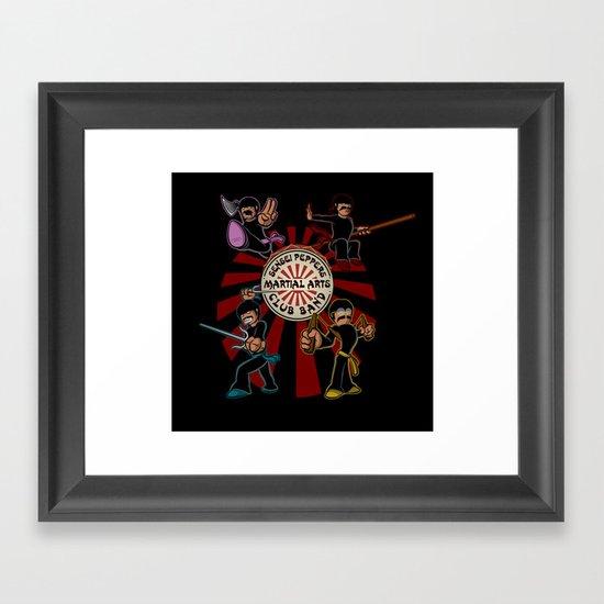 Sensei Pepper's Martial Arts Club Band Framed Art Print