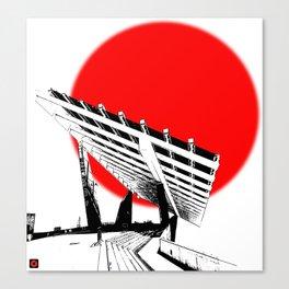 Barna Love Red Sun Canvas Print