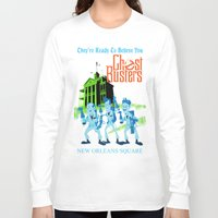 ghostbusters Long Sleeve T-shirts featuring Hitchhiking Ghostbusters by Sam Carter AKA Cartarsauce