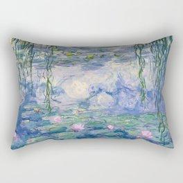 """Claude Monet """"Water Lilies(Nymphéas)"""" (9) 1916–19.jpg Rectangular Pillow"""