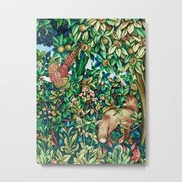 William Morris Fox and Pheasant Tapestry Print Metal Print