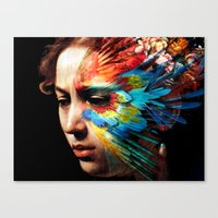 avenger Canvas Prints featuring Avenger by Adverteasing