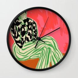 CALM WOMAN PORTRAIT Wall Clock