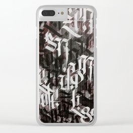 Letterflow Clear iPhone Case