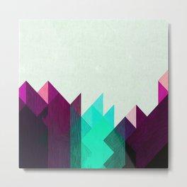 Purple Peaks Metal Print