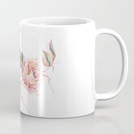 Pink Roses Floral Pattern Coffee Mug