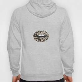 Cheetah Pattern Lips Leopard Fur Mouth Animal Print Hoody