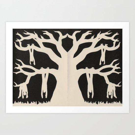 The Old Oak Tree Art Print