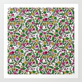 Cute Chintz Floral Pattern Art Print