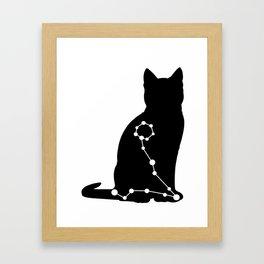 pisces cat Framed Art Print