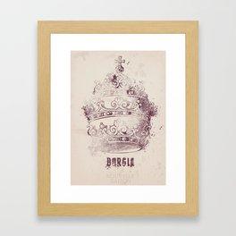 Borgia, tv series, alternative movie Poster, John Doman, Mark Ryder, Isolda Dychauk, Marta Gaslini Framed Art Print