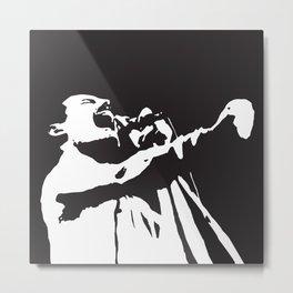 Freddy Mercury, Music Legend, Black, White, Cinema, Art, Author, Song Writer,Musician, Rock Artist, Metal Print