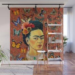 FRIDA bUTTERFLYS Wall Mural