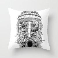 birdman Throw Pillows featuring birdman by Evaldas Boo