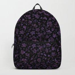 Modern Moody Flowers - Purple Flower Contemporary Pattern 1 Backpack