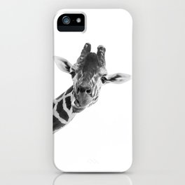 Giraffe Portrait // Grey Wild Animal Cute Zoo Safari Madagascar Wildlife Nursery Decor Ideas iPhone Case