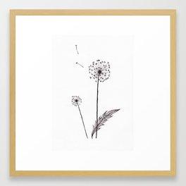 Black forest: Dandelion Framed Art Print