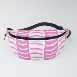 Wavy Stripes Pink Fanny Pack