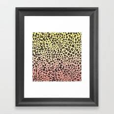 CORAL & YELLOW LEOPARD Framed Art Print