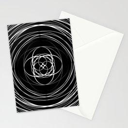 Black White Swirl Stationery Cards