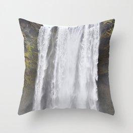 Facing the Torrent Throw Pillow