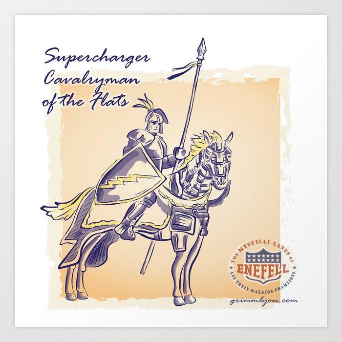Supercharger of the Flats Art Print
