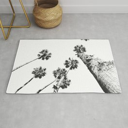 {2 of 2} Palm Trees = Happy // Black and White Summer Sky Rug