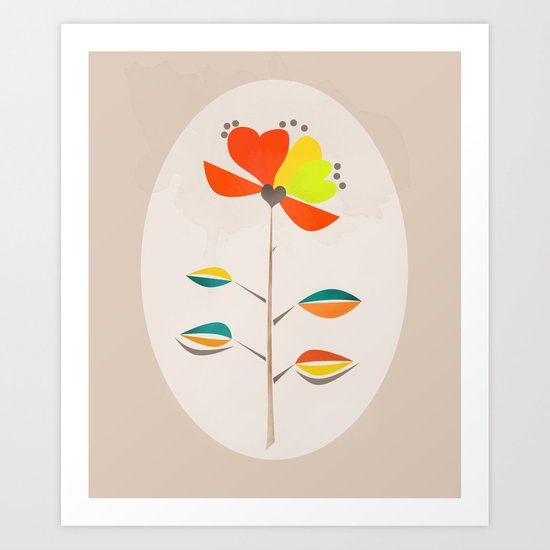 Fantasy . Flower . Art Print