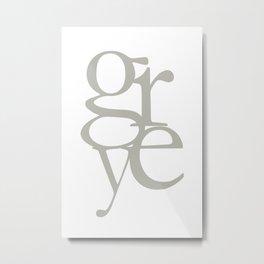 Grey II  #society6 #decor #buyart Metal Print