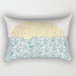 Sunny Tribal Seas Rectangular Pillow