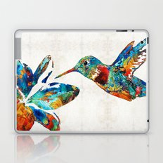 Colorful Hummingbird Art by Sharon Cummings Laptop & iPad Skin