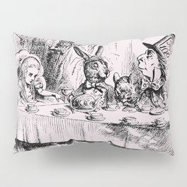Blush pink - mad hatter's tea party Pillow Sham