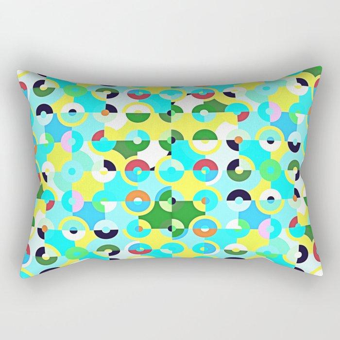 Circle Quarters Rectangular Pillow