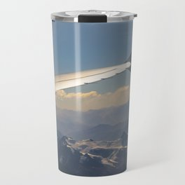 Chilean Andes Mountain Aerial View Travel Mug