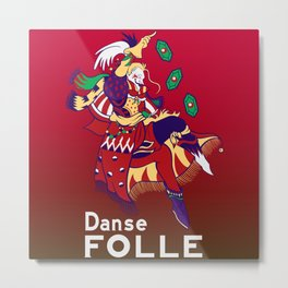 Gamer Geeky Chic FF6 Inspired Kefka Dancing Mad Danse Folle Metal Print