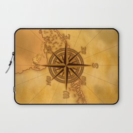 Antique Style Compass Rose Laptop Sleeve