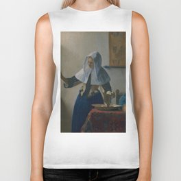 """Johannes Vermeer """"Young Woman with a Water Pitcher"""" Biker Tank"""
