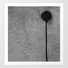 In a Grey Town 2: Paint Rivulet Art Print