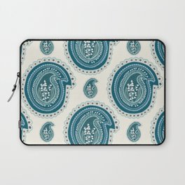 Hand drawn lily of the valley floral paisley damask Laptop Sleeve