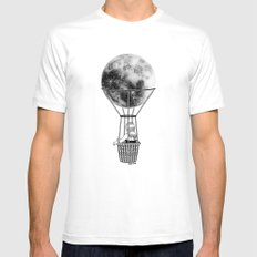Night Flight White Mens Fitted Tee SMALL