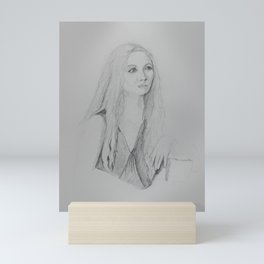 Portrait of Maren Mini Art Print