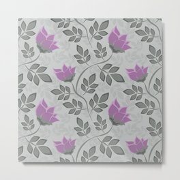 Liana purple flowers . Metal Print