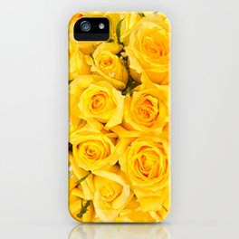 YELLOW ROSES CLUSTERED iPhone Case