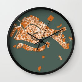 VENICE City Map | Italy | Orange | More Colors, Review My Collections Wall Clock