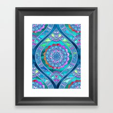 Radiant Boho Color Play Framed Art Print