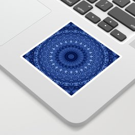 Mandala in deep blue tones Sticker