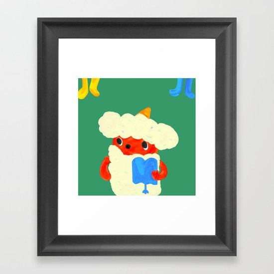 Baby demon (Japanese baby demon) Framed Art Print