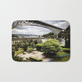 Seattle Fremont bridge - river view Bath Mat