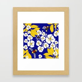 Bumbly Bees with Backbacks Framed Art Print