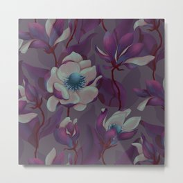 magnolia bloom - nighttime version Metal Print